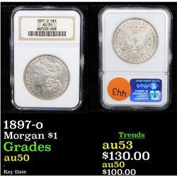 NGC 1897-o Morgan Dollar $1 Graded au50 By NGC