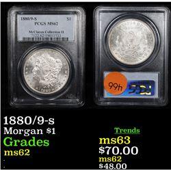 PCGS 1880/9-s Morgan Dollar $1 Graded ms62 By PCGS