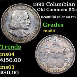 1892 Columbian Old Commem Half Dollar 50c Grades Choice Unc