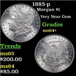 1885-p Morgan Dollar $1 Grades Choice+ Unc