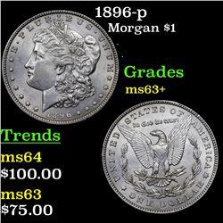 1896-p Morgan Dollar $1 Grades Select+ Unc