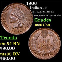 1906 Indian Cent 1c Grades Choice Unc BN