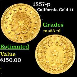 1857-p California Gold Token Grades Select Unc PL