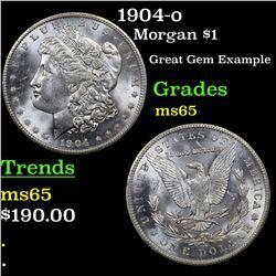 1904-o Morgan Dollar $1 Grades GEM Unc