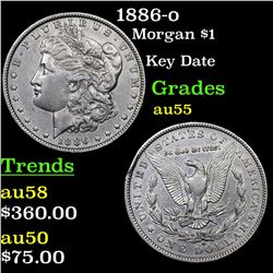 1886-o Morgan Dollar $1 Grades Choice AU