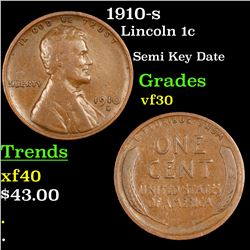 1910-s Lincoln Cent 1c Grades vf++