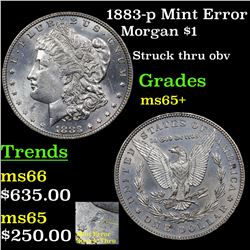 1883-p Mint Error Morgan Dollar $1 Grades GEM+ Unc