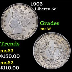 1903 Liberty Nickel 5c Grades Select Unc
