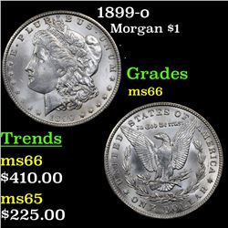1899-o Morgan Dollar $1 Grades GEM+ Unc