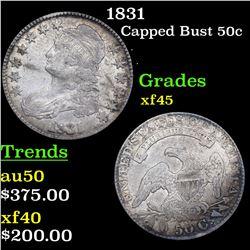 1831 Capped Bust Half Dollar 50c Grades xf+