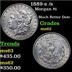 1889-s /s Morgan Dollar $1 Grades Select Unc
