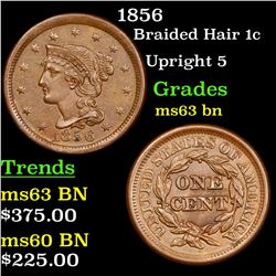 1856 Braided Hair Large Cent 1c Grades Select Unc BN
