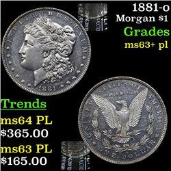 1881-o Morgan Dollar $1 Grades Select Unc+ PL