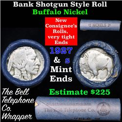 Buffalo Nickel Shotgun Roll in Old Bank Style 'Bell Telephone'  Wrapper 1927 & s Mint Ends