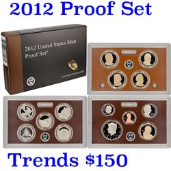 Hard to get, low mintage 2012 US Mint Proof Set; 14 pcs