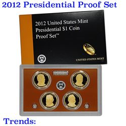 2012 United States Mint Presidential Dollar Proof Set - 4 pc set