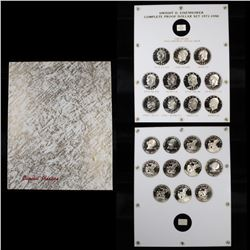 "Beautiful Proof Eisenhower ""Ike"" Dollar Set 11 coins in a Captial Plastic display holder"