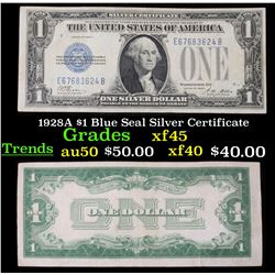 1928A $1 Blue Seal Silver Certificate Grades xf+