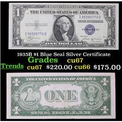 1935B $1 Blue Seal Silver Certificate Grades Gem++ CU