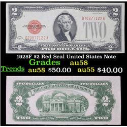 1928F $2 Red Seal United States Note Grades Choice AU/BU Slider