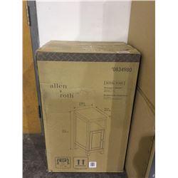 """Allen Roth Storage Cabinet - Alabaster Finish White Stone Top (33"""" H x 12.88"""" W x 18.5"""" D)"""