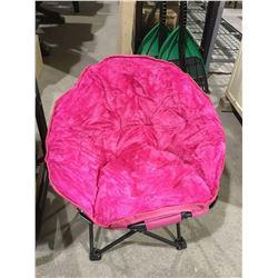 Kids' Pink Folding Camp Chair