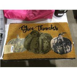 "Give Thanks Doormat (18"" x 30"")"