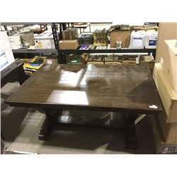 """Wooden Dining Table (62"""" 40 1/2"""" x 30"""" H)"""