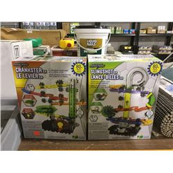 Marble Mania Crankster 2.0 and Slingshot 2.0 Marble Maze Lot of 2