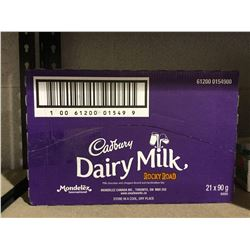 Case of Cadbury Dairy Milk Rocky Road Milk Chocolate Bars (21 x 90g)