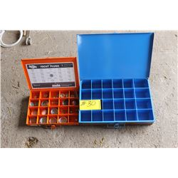 BLUE CABINET, ORANGE CABINET C/W FROST PLUGS