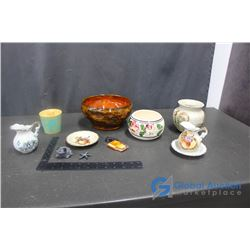 Handmade Clay Bowl, Ceramic Decor and Assorted Household