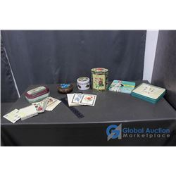 (5) Tins, Stickers and Cards