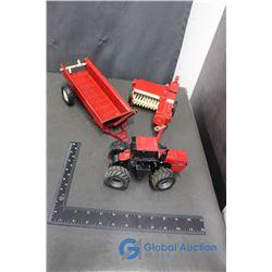 Case 4894 (Red), IH Square Baler & IH Manure Spreader