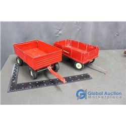 (2) IH Metal Grain Wagons