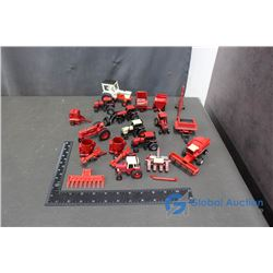 Large Group of 1/64 Scale Case & IH Toys