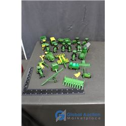 Large Group of 1/64 Scale John Deere Toys