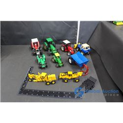 Assorted Tractors & John Deere Construction/Forestry Toys