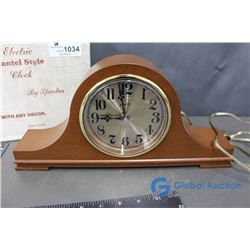 Electric Mantle Style Clock (working)