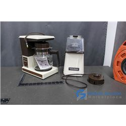 Toastress Popcorn Machine and General Electric Coffeematic