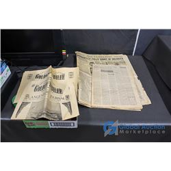1932 The Leader Post and Prairie Press Farmer and (2) 1955 Golden Jubilee Newspapers