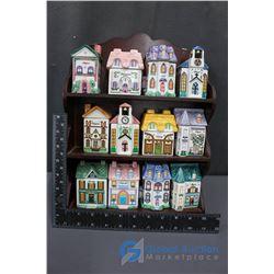 Decorative Spice Houses Display Rack