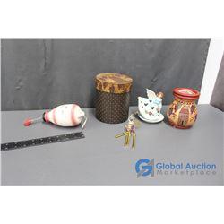 Angel Tea Light, Tea Light Wax Melter, and Assorted