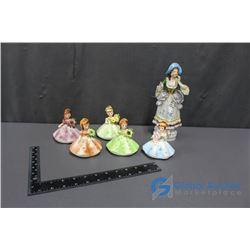 Birthstone and Lady Figurines