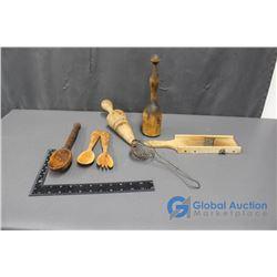 Vintage Wooden Kitchen Items