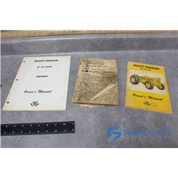 Massey Harris Operator Books & Owners Manual
