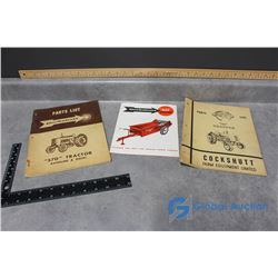 Cockshutt Parts Books & Spec Sheets