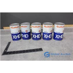 (5) One Quart Gulf XHD Motor Oil