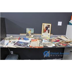 Large Lot of Vintage Royalty Newspapers, Clippings, & Calendar