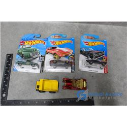 Toy Cars & (3) Hot Wheels in Packages